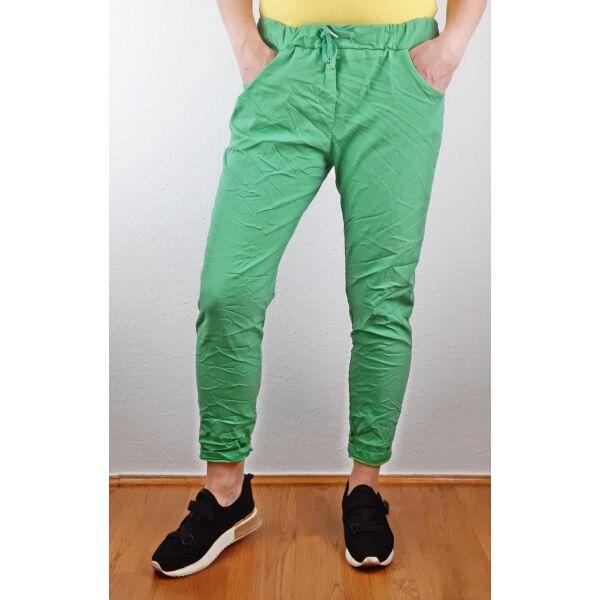 Elasztikus zöld nadrág