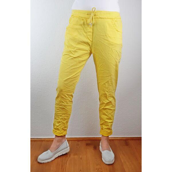 Elasztikus sárga nadrág