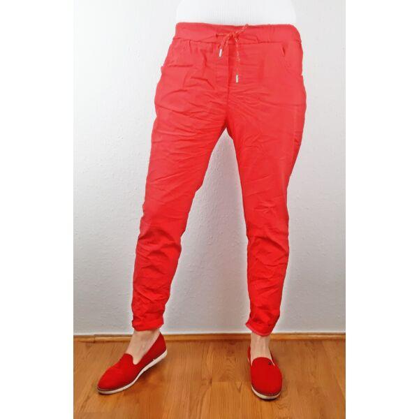 Elasztikus piros nadrág