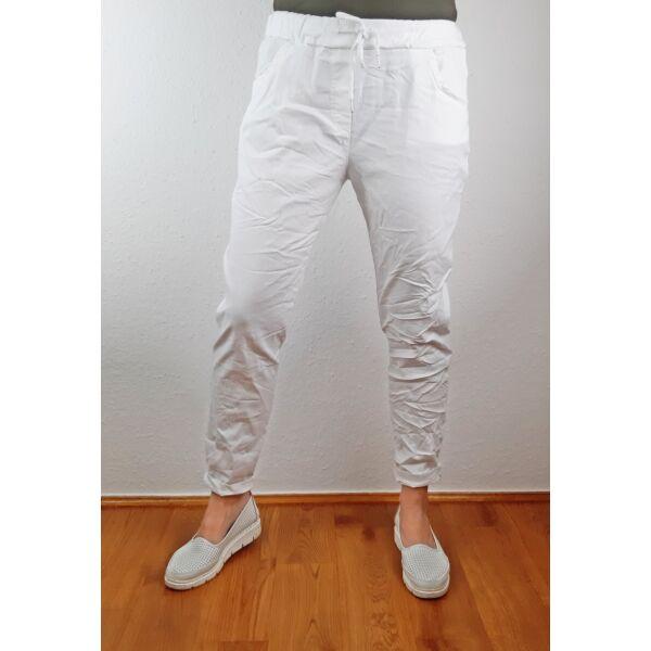 Elasztikus fehér nadrág