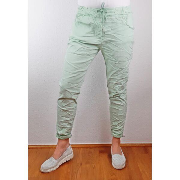 Elasztikus világos zöld nadrág