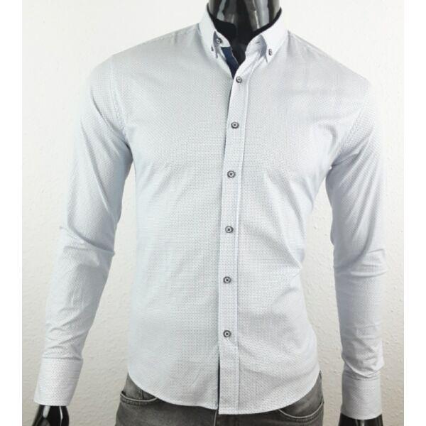 Apró mintás fehér elegáns ing