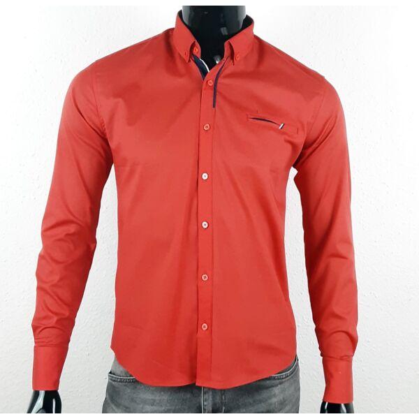 Piros elegáns hosszú ujjú ing