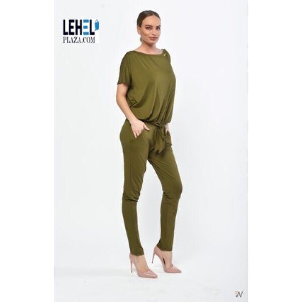 Khaki zöld pamut overál