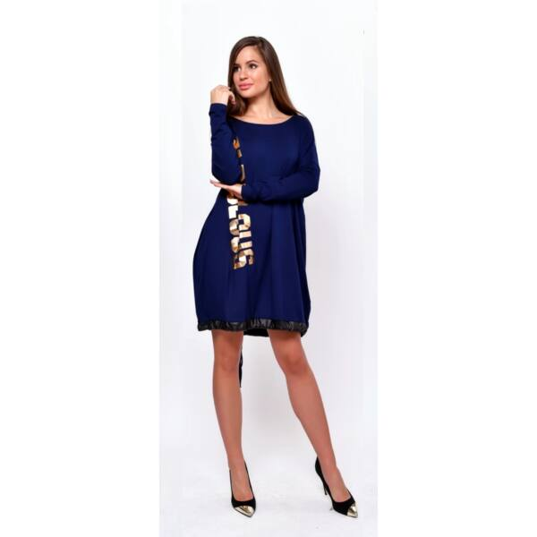Fabulous feliratú laza sötét kék tunika