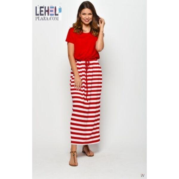 Maxi piros csíkos ruha