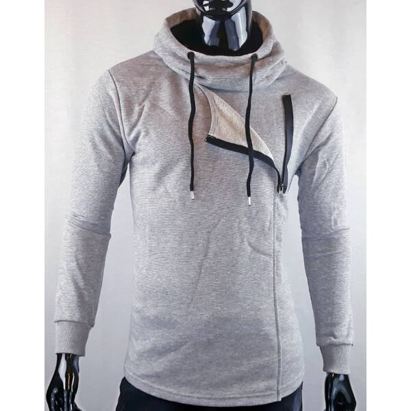 Madmext-Egyedi stílusú szürke pulóver