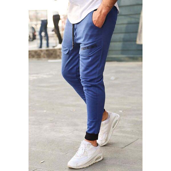Stílusos kék melegítő nadrág