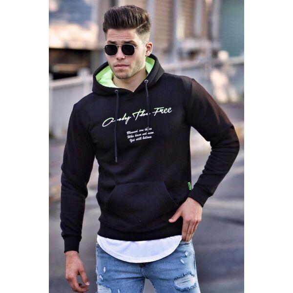 Fekete Only the free nyomatos pulóver