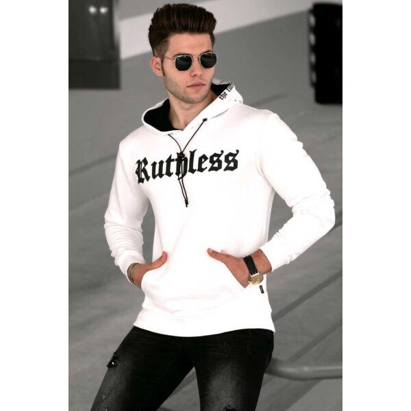 Fehér színű extravagáns pulóver