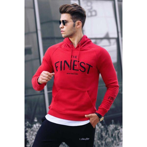 Piros színű extravagáns pulóver