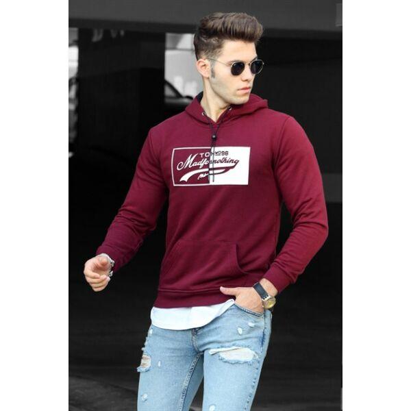 Bordó színű extravagáns pulóver