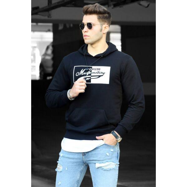 Fekete színű extravagáns pulóver
