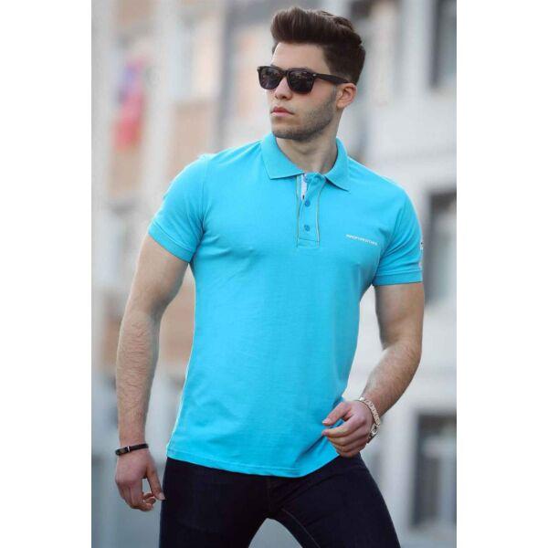 Kék galléros póló