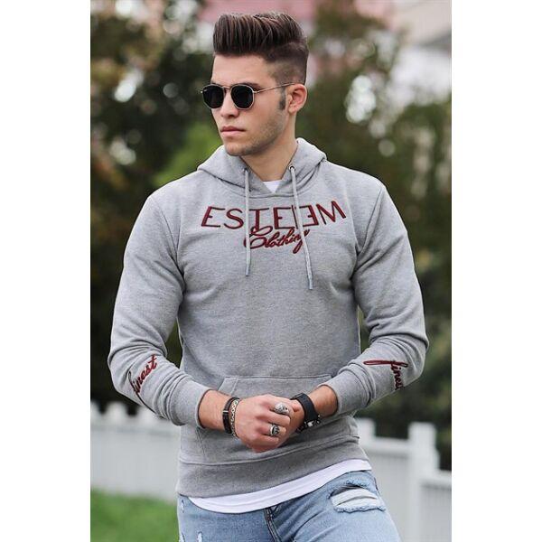 Szürke színű extravagáns pulóver