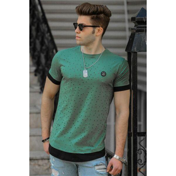 Lyukacsos zöld póló