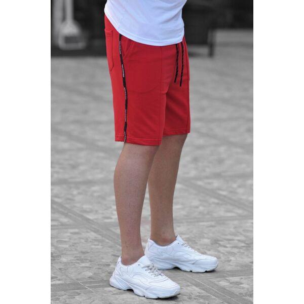 Madmext  piros rövidnadrág
