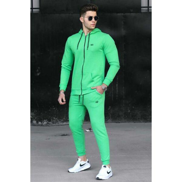 Zöld szabadidő cipzáros felsőrésszel