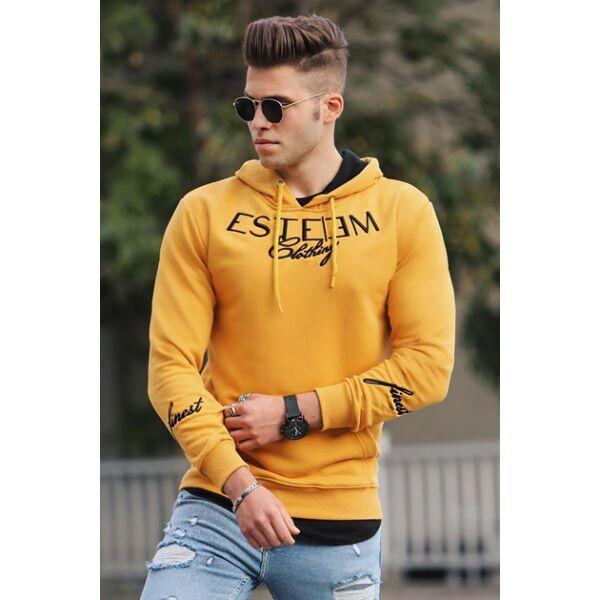 Sárga színű extravagáns pulóver