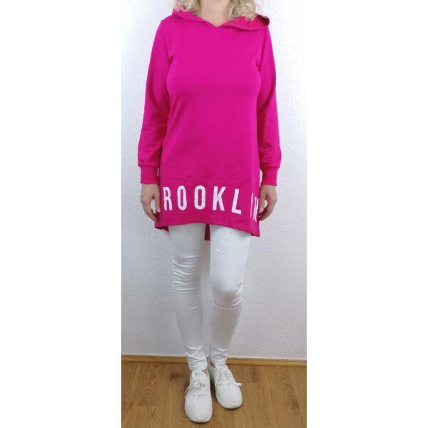 Brooklyn nyomott mintás pink sportos tunika