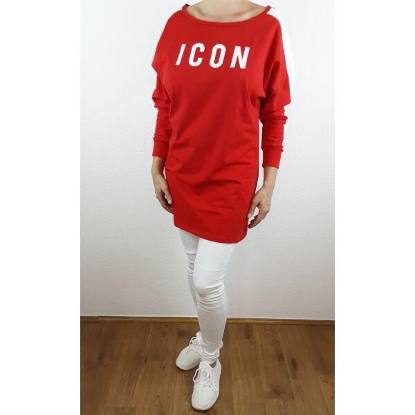 ICON feliratú piros felső/tunika