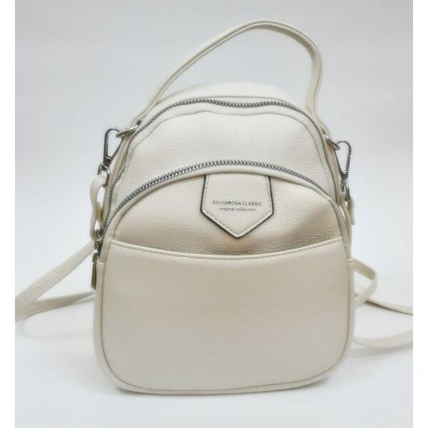 Krém színű oldal/háti táska
