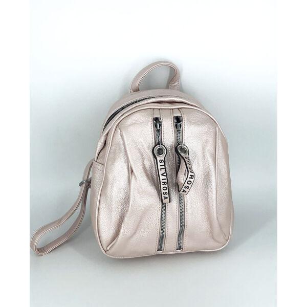 Gyöngyrózsaszín 3 rekeszes háti táska