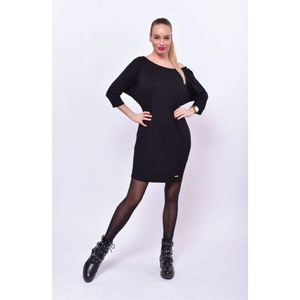 Fekete fél vállas ruha