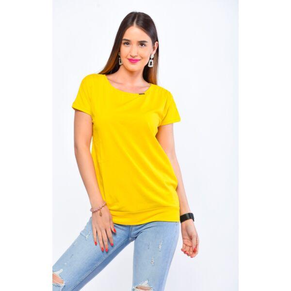 Bő fazonú sárga felső