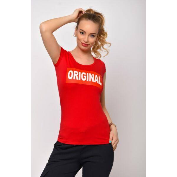 Original  nyomatos piros póló
