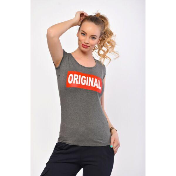 Original  nyomatos sötétszürke póló
