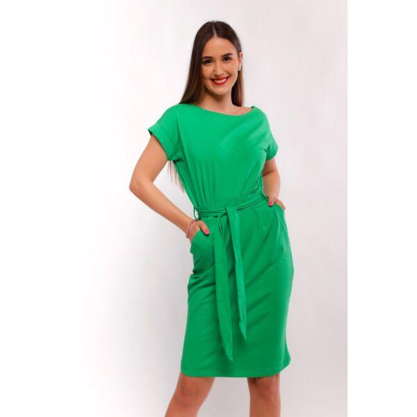 Zsebes zöld midi ruha