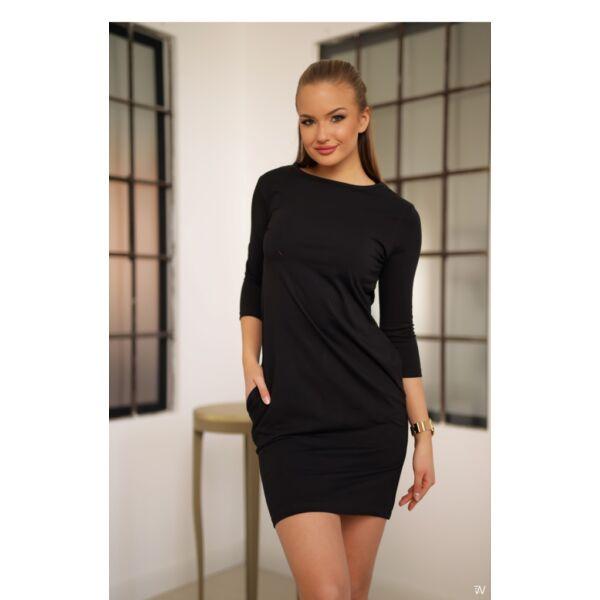 Oldal zsebes fekete mini ruha