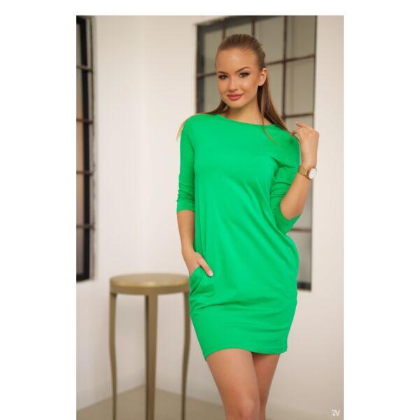 Oldal zsebes zöld mini ruha