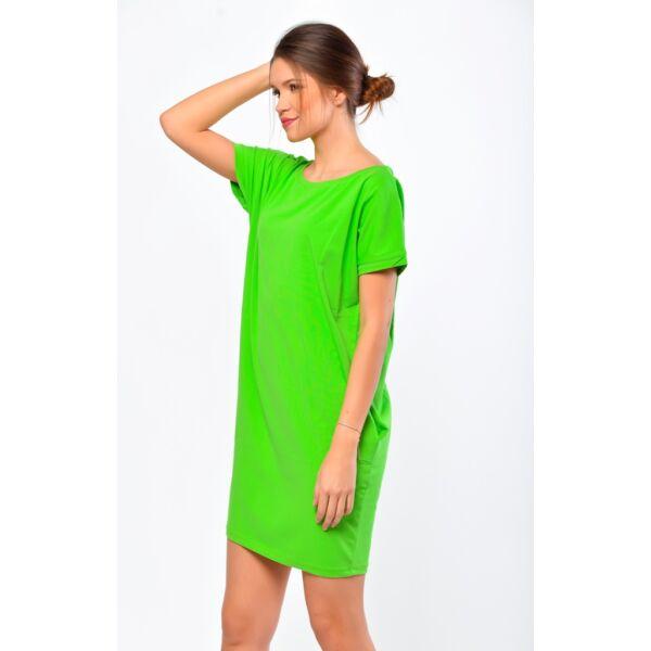 Bő fazonú neon zöld ruha