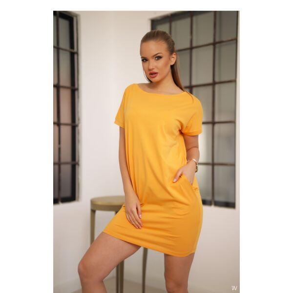Bő fazonú sárga ruha