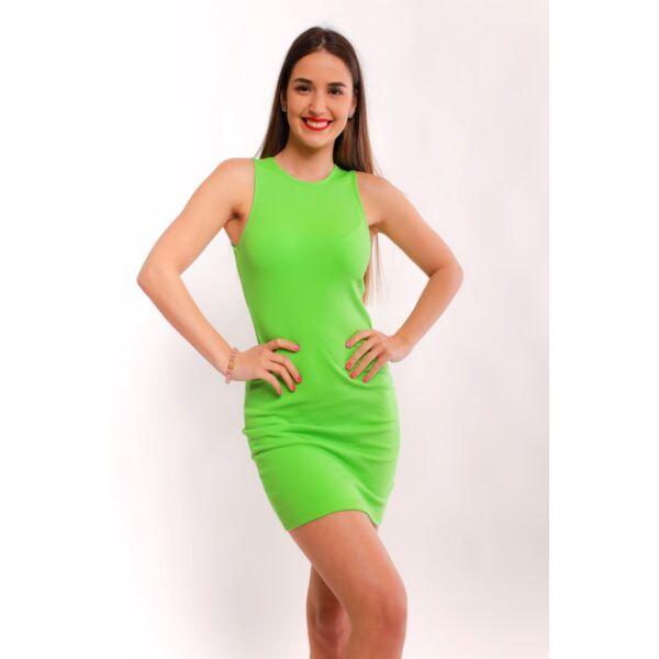 Zöld bordás anyagú ruha