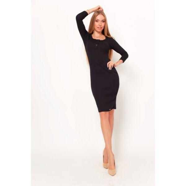 Fekete midi ruha