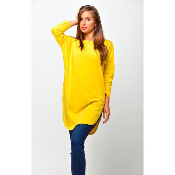 Kerekített aljú sárga ruha/tunika