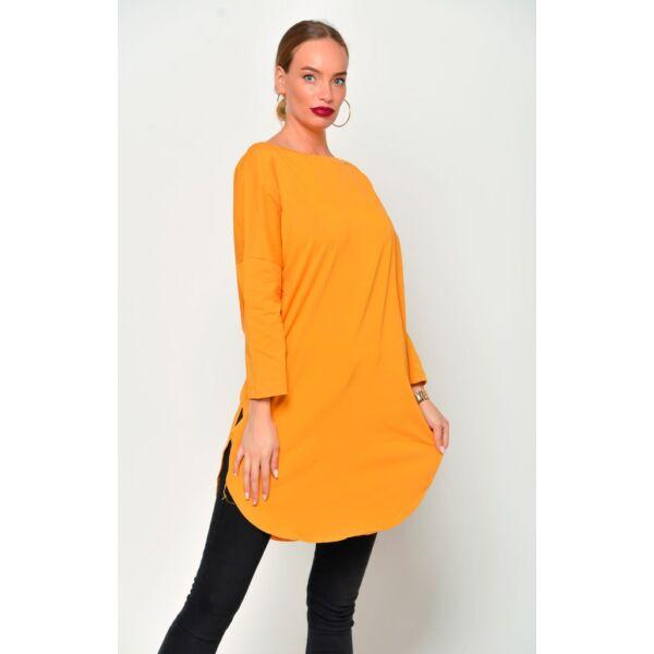 Kerekített aljú mustár sárga ruha/tunika