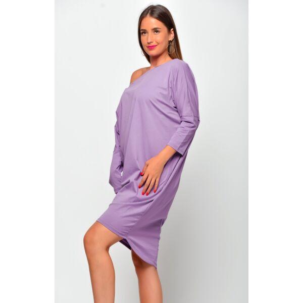 Bő szabású lezser lila ruha