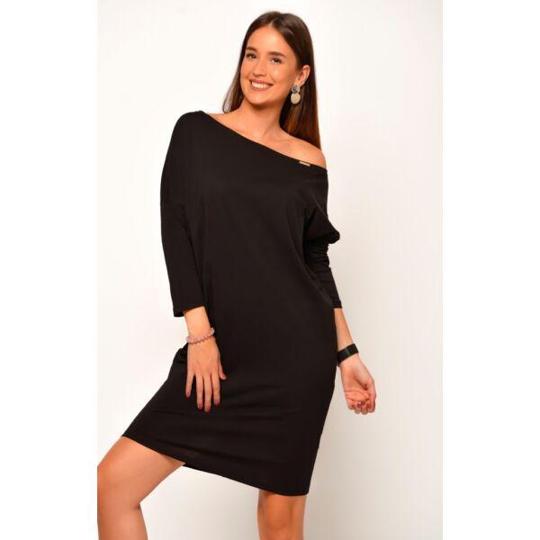 Bő szabású fekete ruha