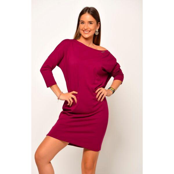 Bő szabású lila ruha