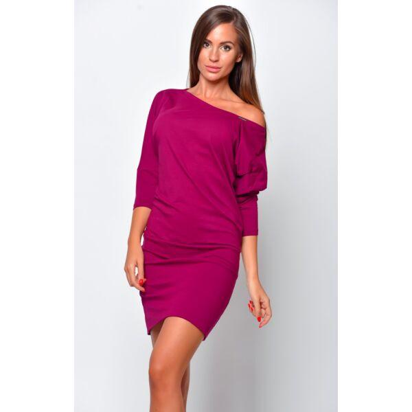 Bő fazonú sötét lila ruha