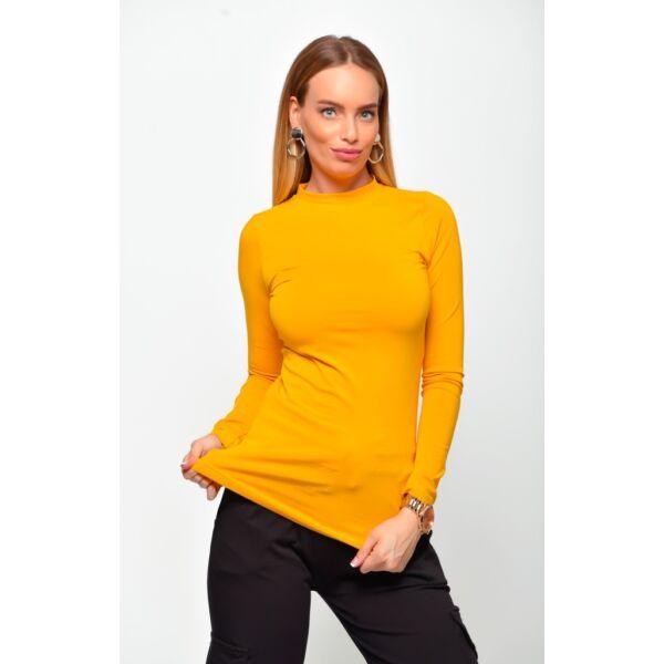 Félgarbos mustár sárga felső