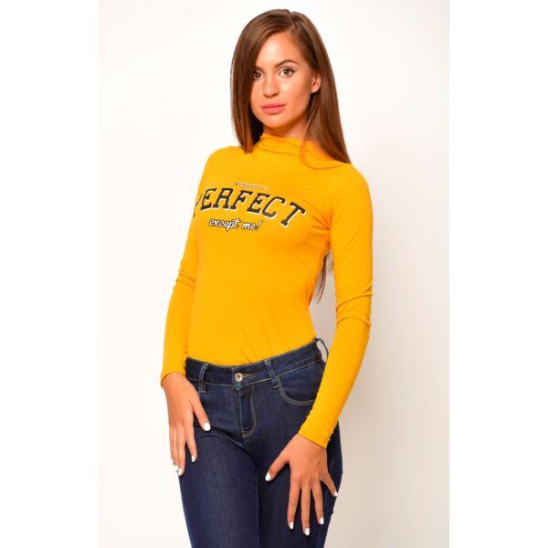 PERFECT nyomatú sárga body