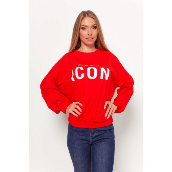 ICON feliratú piros felső