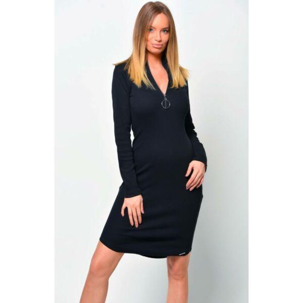 Cipzáros fekete ruha