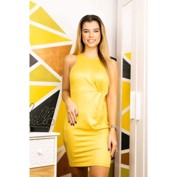 Ujjatlan elől csavart sárga ruha