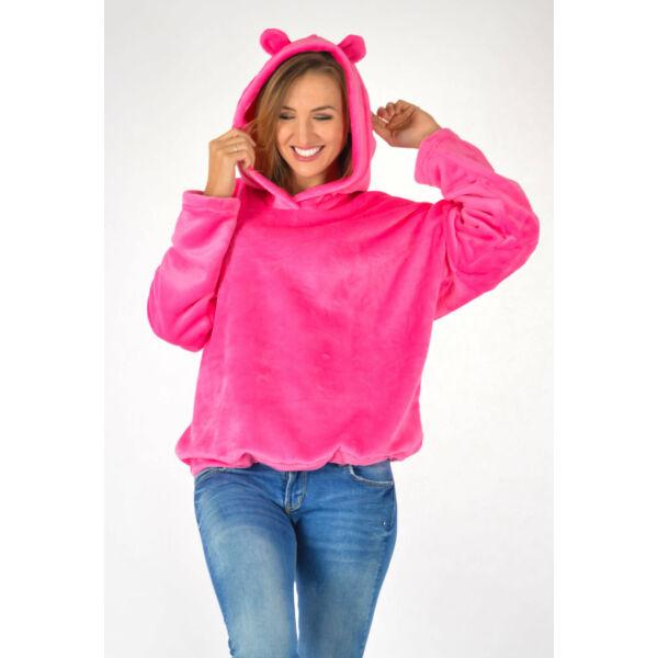 Pink pihe-puha kapucnis felső